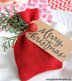 DIY: Christmas Gift Card Bag