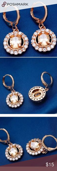 ANN TAYLOR Rose Gold & Champagne CZ Earrings NWT Rose Gold Plated & Champagne CZ Drop Earrings Products Details: 》The main stone:Cubic Zirzon  》Other Gem:  Cubic Zirconia 》Cut: PEAR BRILLIANT 》 Metal type: Rose Gold Plated 》Tarnish Resistant  》 Retail Price: $28. Please note, earrings come in a sealed package from the manufacturer. They are overstock from the company Ann Taylor Jewelry Earrings