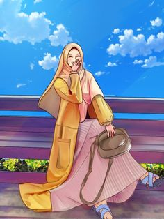 Anime Angel Girl, Cool Anime Girl, Islamic Cartoon, Anime Muslim, Hijab Cartoon, Cute Girl Wallpaper, Cute Couple Videos, Anime Couples Manga, Muslim Couples