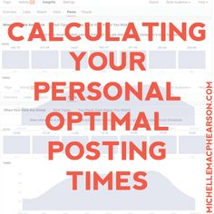Calculating Your Personal Optimal Facebook Posting Times