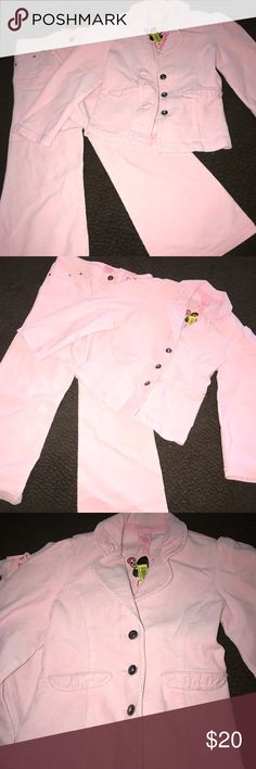 Pink Corduroy Pant Set size 5 New* Pink Corduroy Jacket & Pant Set Size 5 New with Tags. Copper Key Matching Sets