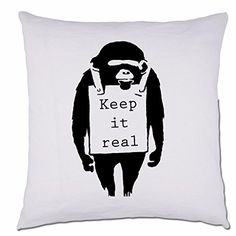 Keep It Real Monkey Banksy Street Art Graffiti Sofa Scatter Cushion Pillow 48cm x 48 cm Black BANG TIDY CLOTHING http://www.amazon.co.uk/dp/B012GU1I9S/ref=cm_sw_r_pi_dp_1gLTvb049G4YK