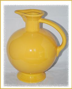 Vintage Fiestaware Yellow Coffee Carafe. $68.00, via Etsy.