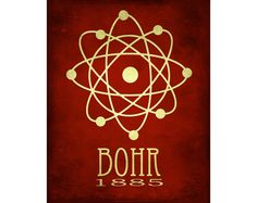 Science Art Print 8x10  Atomic Structure Niels Bohr by meganlee, $18.00