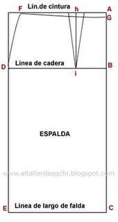 Straight skirt pattern en espagnol