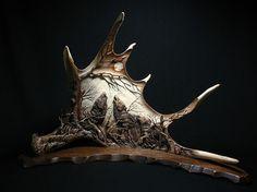 Холмогорская резьба по кости