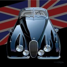 Jaguar XK-150. One of the cars I test drove but settled on a new Datson 280+, as I knew no mechanics, I met Bruce a few months later. I thought he wanted my engine stand and my 1/2 acre as between us we had 12 cars. Hard to believe we are down to 7, one a new prius, but we've moved to better and better cars.