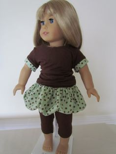 American Girl Doll Bubble Skirt Knit Tee and by EnhancedImage, $15.00