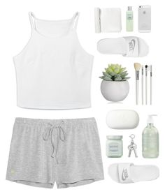 """""""Kim"""" by vick-yy ❤ liked on Polyvore featuring Elle Macpherson Intimates, Cath Kidston, The Body Shop, NIKE and Laura Mercier"""