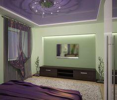 Purple-green bedroom with tulip on Behance