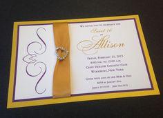 #Sweet16 #Invitation #gold