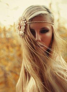 Hippie chic hair style.