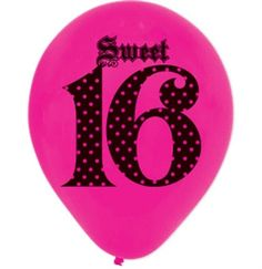 Cute polka dot Sweet 16 balloon - Sweet 16 Decorations #RockRoyalty #Sweet16 #Rocker #RockinSweet16