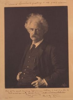 Samuel Clemens (Mark Twain) signed and inscribed photograph.