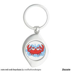 cute red crab keychain