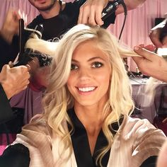 #ShareIG Last minute touch ups before round two! #VSFashionShow Let's do this!