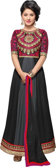 #BuyFromLink --> http://fkrt.it/D~!l1uuuuN #CutiePie #Hina #Women's #Embroidered #Semi-stitched #Salwar #Suit #Dupatta #Material #Dress #SalwarKameez #Black #Pink #Designer #Salwar #Kameez #Chiffon #Dupatta #Awesome #Indianfashion #Gorgeous #look #style  #Shop #Buy #online #india