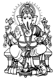 Lord Ganesha Colouring Pages
