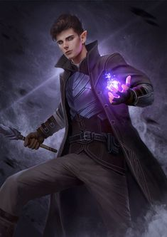 ArtStation - Ilphrae and Darien, Gerry Arthur Male Character, Fantasy Character Design, Character Portraits, Character Creation, Character Design Inspiration, Elf Characters, Dungeons And Dragons Characters, Fantasy Characters, Fantasy Male
