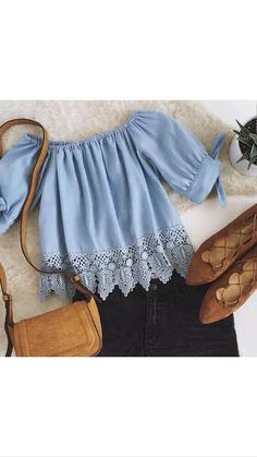 """PREORDERS today on this Off The Shoulder Blue Lace Short Top!! (poly/cotton blend) ALWAYS Free Shipping within the US!! ✨Remember preorders can take 3-6 weeks to arrive✨ALL SALES ARE FINAL!! NO REFUNDS AND NO EXCHANGES✨ S--Bust: 37"""" Length: 17.7"""" M--Bust: 37.8"""" Length: 18.1"""" L--Bust: 38.6"""" Length: 18.5"""" XL--Bust: 39.4"""" Length: 18.9"""" XXL--Bust: 40.2"""" Length: 19.3"""" 