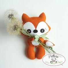 Tail Fox PDF pattern-Woodland animals by LittleThingsToShare