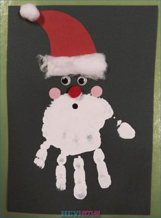 christmas crafts for infants Handicraft Christmas - Inspirational Ideas Christmas Crafts For Toddlers, Winter Crafts For Kids, Preschool Christmas, Christmas Activities, Holiday Crafts, Christmas Cards From Kids, Handprint Christmas Art, Santa Handprint, Santa Crafts