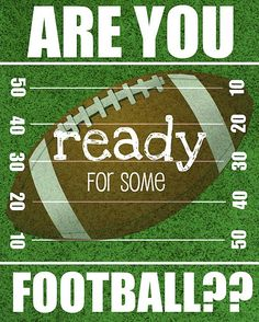 I am always ready for some Football...especially Castleton State College, Rochester Youth Football or our Red Raiders!!