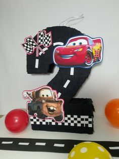 Number 2 Cars pinata, Ready to ship Cars number 2 , Cars party decoration. Toddler Party Games, Birthday Party Games For Kids, Cars Birthday Parties, Birthday Party Decorations, Pixar Cars Birthday, Race Car Birthday, Disney Birthday, 3rd Birthday, Piñata Cars