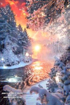 Beautiful Flowers Wallpapers, Beautiful Photos Of Nature, Beautiful Fantasy Art, Beautiful Nature Wallpaper, Beautiful Gif, Winter Christmas Scenes, Christmas Scenery, Winter Scenery, Angel Pictures