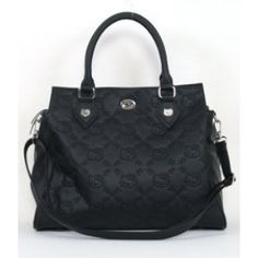 NEED this! Hello Kitty Black Embossed Faux Leather Satchel Bag Purse