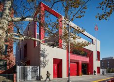 Fire stations need lightning protection systems so they are ready to fight fires caused by lightning. The New York Fire Department Rescue Company 2 was designed by Studio Gang and received an Award for Excellence in Design from the Public Design Commission, New York, 2015. Lightning Rod, Architect Magazine, Fire Department, Studio, Architecture, Public, Travel, York, Design