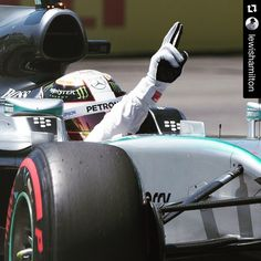Congratulations to @lewishamilton ・・・ Wow. What a day. Thank you to my amazing team @mercedesamgf1. Thank you #TeamLH. #CanadaGP