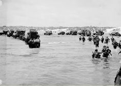 Utah Beach: U.S. troops and material moving ashore after the initial assault, june 1944.