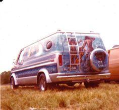 """Silver Snake"" customized 70's Ford van..vk"