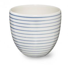 Stripes handthrow cup narrow blue line SR380B - Stripes handthrow cup narrow blue line - collections