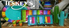 Serape 3 pc party set! Brighten up your kitchen and show of your colors! $59.99
