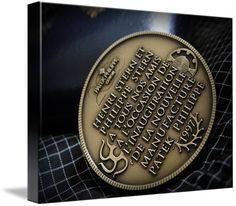 "Patek Philippe Geneve Commemorative Medal Coin $93 // Style: Soft Edge Canvas Print; Size: Medium 16"" x 21"" // Visit http://www.imagekind.com/Patek-Philippe-Geneve-PPG_art?IMID=02d2d878-c1ec-4135-b5f1-3c17e7a5ee8b for product details."