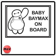 Big hero 6, baby #baymax on board car #sticker, #bumper, disney, View more on the LINK: http://www.zeppy.io/product/gb/2/161779131379/