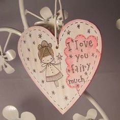 Hand painted wooden heart  ideal Valentine gift by stamptout, £5.00