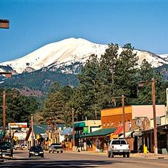 Midtown of Ruidoso, NM, with Sierra Blanca keeping watch over our beautiful town in the background.