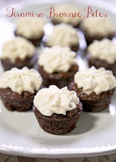 Tiramisu Brownie Bites