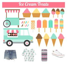 """Ice cream lover"" by goodygumdrop242 ❤ liked on Polyvore featuring Casetify, Converse, Alexander Wang and icecreamtreats"