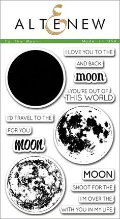 The awesome moon image can be stamped in one, two, or three layers, giving you some versatility while you create.