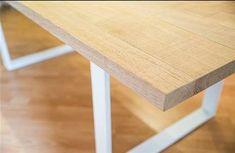 #τραπεζι#μασι#δρυς#μεταλλικη βαση#Wood Kitchen, Table, Furniture, Home Decor, Cooking, Decoration Home, Room Decor, Kitchens, Tables