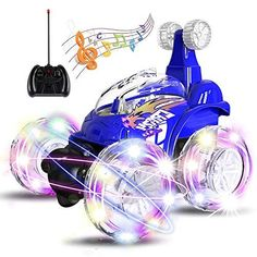 UTTORA Remote Control Car, Invincible Tornado Twister Remote Control Degree Spinning and Flips with Color Flash and Music RC Car for Kids Mercedes Benz Slk, Remote Control Cars, Radio Control, Rc Remote, Intj, Rc Cars, Sport Cars, Spinning, Swing Sets For Kids