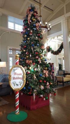 Christmas Tree at Boardwalk Resort Disney 2017, Disney Day, Flocked Christmas Trees, Christmas Decorations, Holiday Decor, Disney Resorts, Disney Vacations, Best Disney Resort, Disney Insider