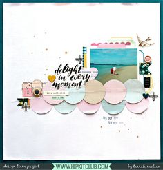 Hi everyone!   Today I am back with you sharing another new design team layout created for Hip Kit Club  using the February 2017 Main and ...