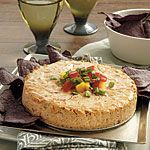 Salsa Cheesecake Recipe | MyRecipes.com ... uses the crockpot to cook ... I sure you could do it in the oven also ... kd