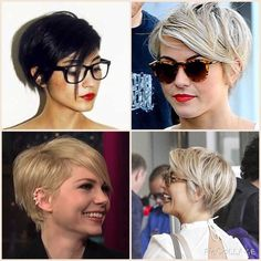 Long pixie - shorter clean back with long front for versatile styling