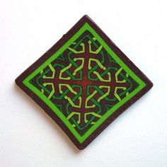 Polymer clay Celtic knot